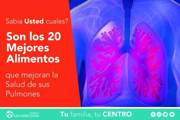 Los 6 mejores alimentos para la salud pulmonar