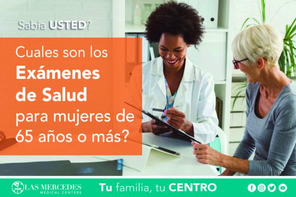 Exámenes De Salud Para Mujeres De 65 Años O Más