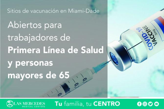 Sitios De Vacunación En Miami-Dade
